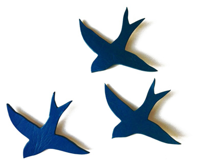 Deep navy blue birds