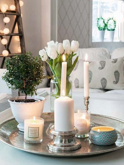 Romantic & Cozy Coffee Table Decor Ideas