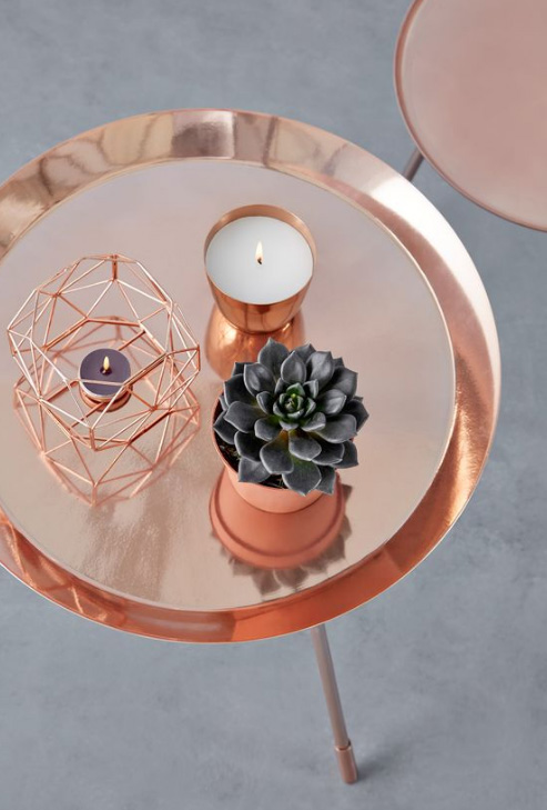 Copper Accessories Coffee Table Decor