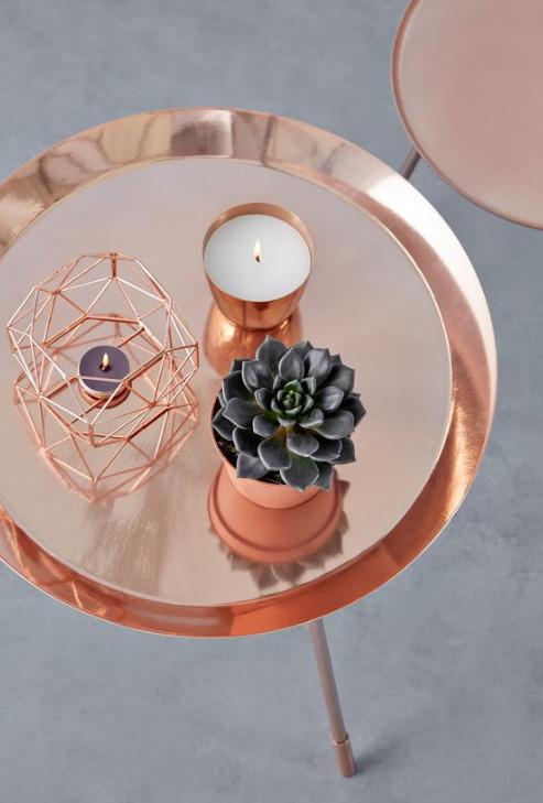 Copper Accessories Coffee Table Decor